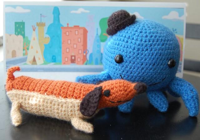 Amigurumi Hot Dog : Oswald the Octopus and Weenie the hot dog! amigurumi ...