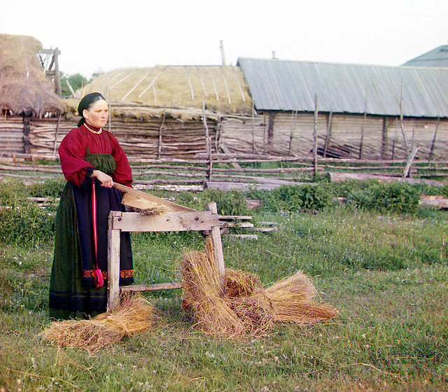 Peasant woman in Perm Province, 1910