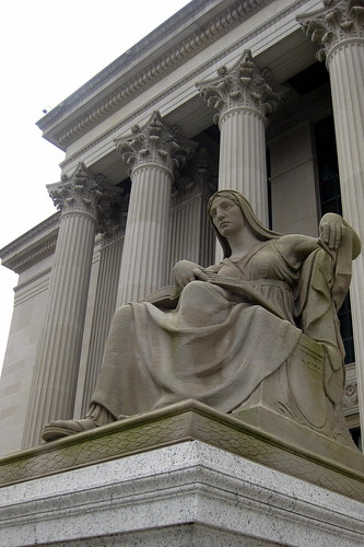 """""""The Future"""" statue at the National Archives"""