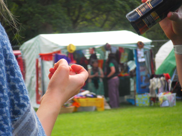 Stalls and drinking at Doune the Rabbit Hole 2011