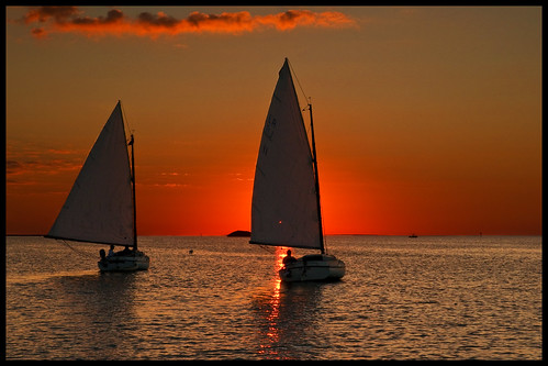 sunset seascape gulfofmexico florida sailboats keylargo
