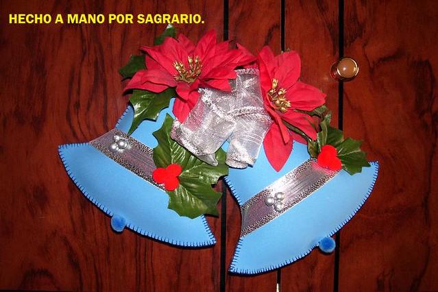 FOTOS DE LOS CURSOS 049 | Campanas navideÑAs hechas en fomi ...