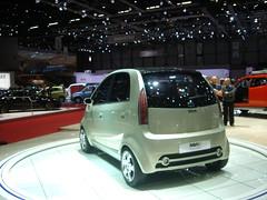 automobile, vehicle, automotive design, auto show, subcompact car, tata nano, city car, compact car, concept car, land vehicle, motor vehicle,