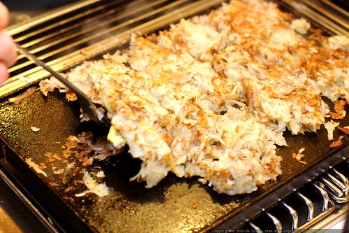 hash browns on an authentic griddle, unwashed since 1977    MG 1667