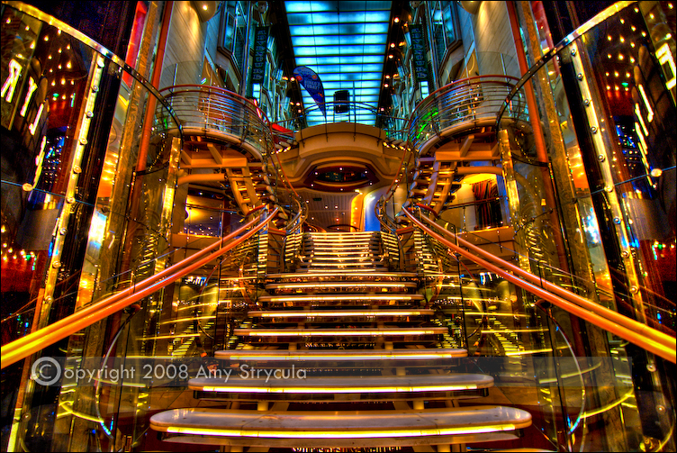 HDR Staircase - Cruise Ship