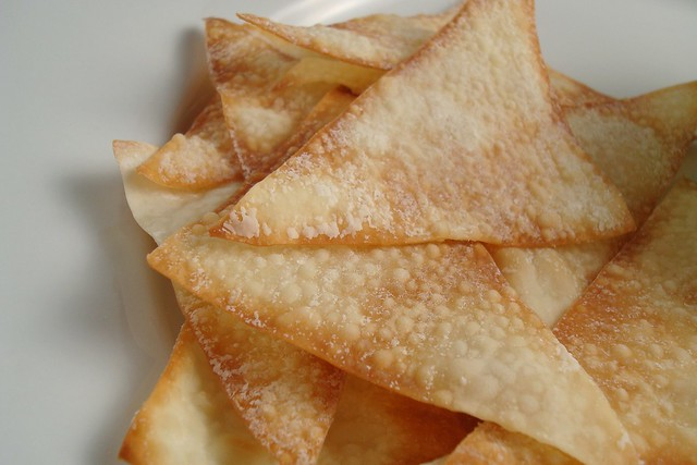 Baked Wonton Chips | Flickr - Photo Sharing!