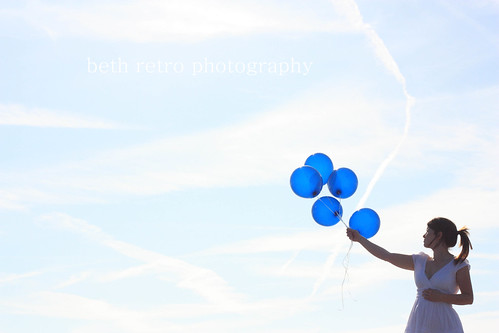 balloons and empty sky