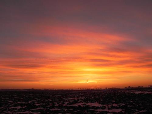 Sonnenuntergang Rösthusen im Winter