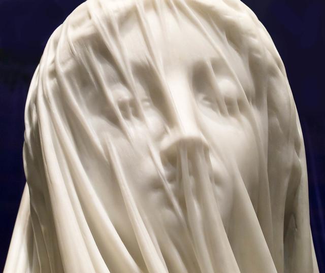 Giovanni Strazza Marble Sculpture
