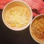 weißkohl, rote linsen und kartoffeln