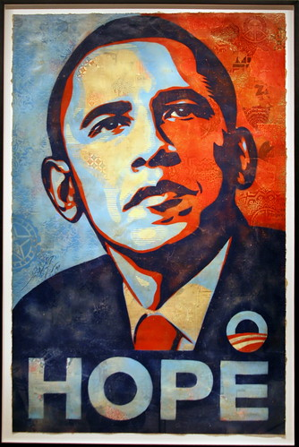 National Portrait Gallery Hangs Shepard Fairey's Portrait of Barack Obama