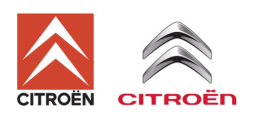 Citroën logo - Rebrand - Old and New