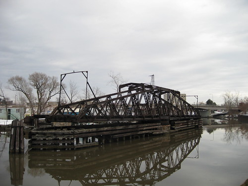 Swing Bridge Tonawanda NY built circa 1892 Tonawanda Creek