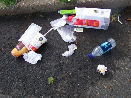 McDonalds litter, 6400 block of 3rd Street NW, Washington, DC