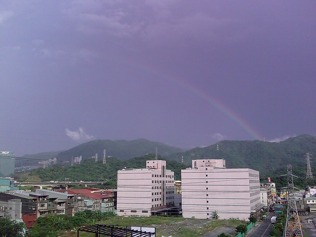 Rainbow in Xizhi after thundershowers