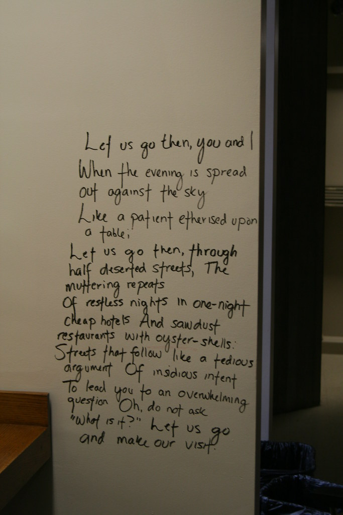 an analysis of the poem the love song of j alfred prufrock by ts eliot The meaning emerges not from what he says but from what eliot, through the  images, the ironic quotations, and  the love song of j alfred prufrock is the  first professionally published poem by american-british poet t s eliot (1888– 1965.