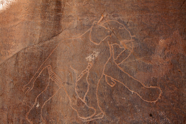 Elephant petroglyph .. one of my favourites