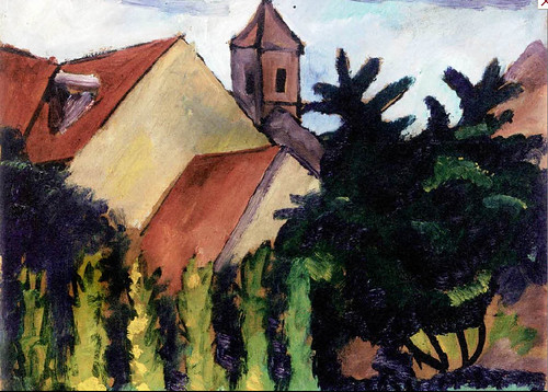 August Macke 1911 Kirche in Kandern