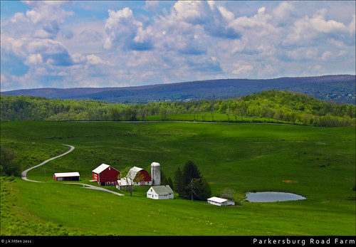 county red barn rural canon pond cloudy maryland farmland historic silo pasture hdr highdynamicrange frostburg allegany westernmaryland eckhartmines t1i parkersburgroad portercemetaryroad