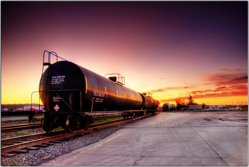 sunset urban clouds train woodland scenery traintracks railway oil hdr choochootrain