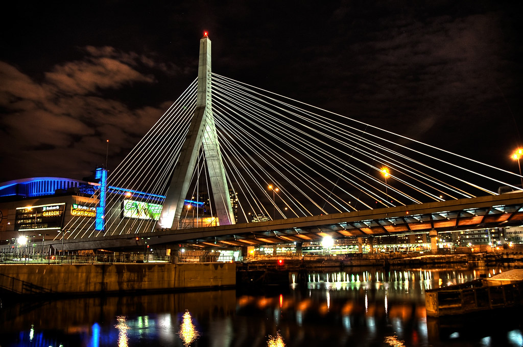 Zakim Bridge in front of the Boston Garden by Craig Stevens <castevens12>