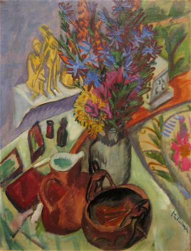 Still Life with Jug and African Bowl