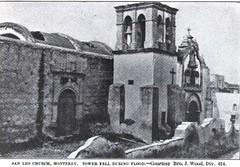 Iglesia de San Francisco después de la Inundación Monterrey 1909