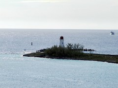 Lighthouse at entrance to Nassau Harbor