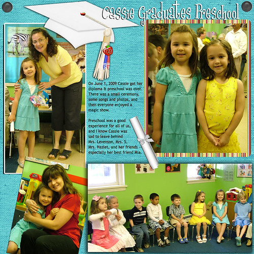 Preschool Graduation (scrapbook page)