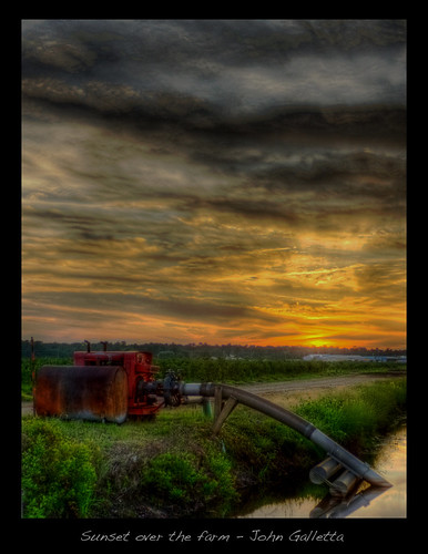sunset farm hdr