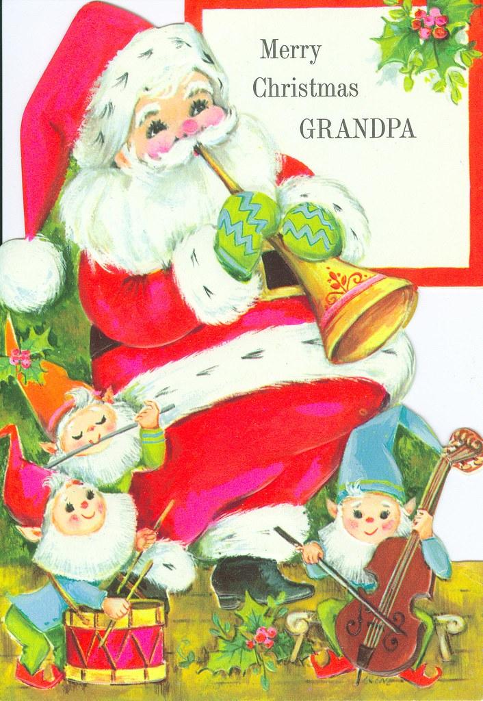 santa grandpa christmas card - Grandpa For Christmas