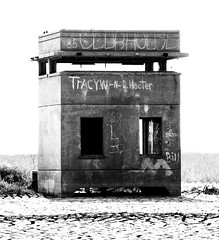 Fire Control Tower, Battery Mercer, Fort San Jacinto, Galveston, Texas 0604111604BW