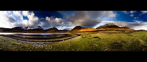 winter panorama snow skye landscape scotland highlands stac an exhibition na loch nan bla glas each cro hebrides cuillin mhor dearg sgurr blaven beinn bheinn slapin garbhbheinn belig bheag
