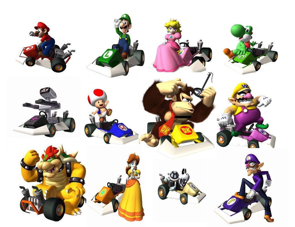 Mario Kart DS characters - a photo on Flickriver