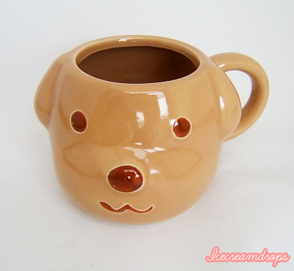 Brown dog puppy animal face unique mug cup a photo on for Animal face mugs