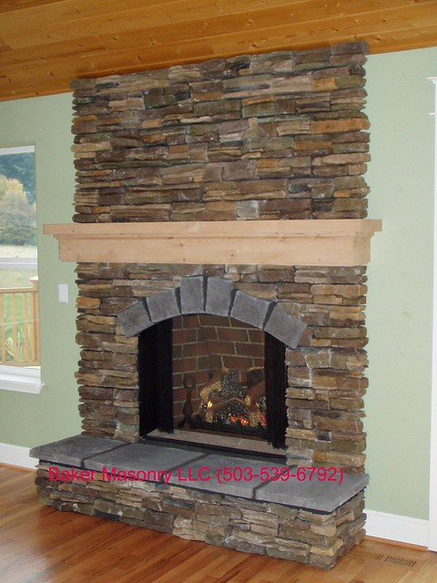 Stone Fireplace Baker Masonry LLC 503 539 6792 Burnt