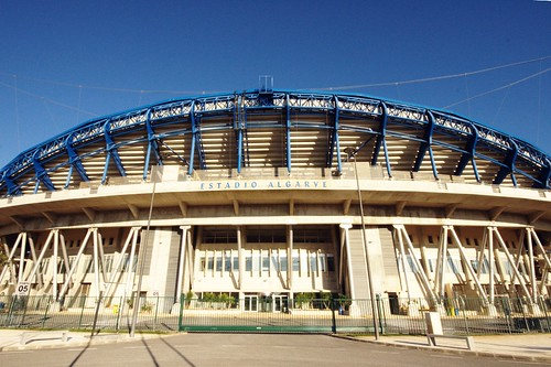Estadio Algarve- Faro's majestic football stadium.