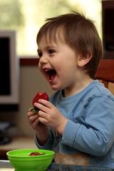please don't make me eat strawberries!