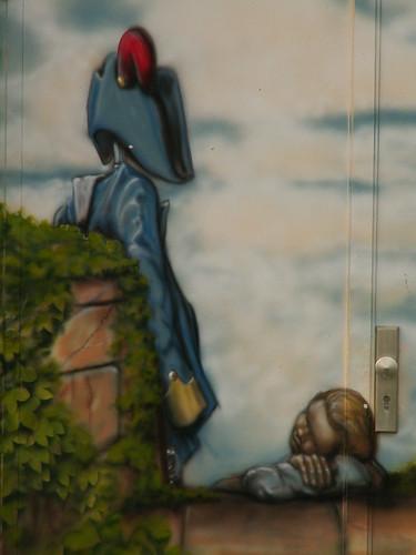 Graffiti Stephanienplatz 33 mal in den tiefsten Wald hinein