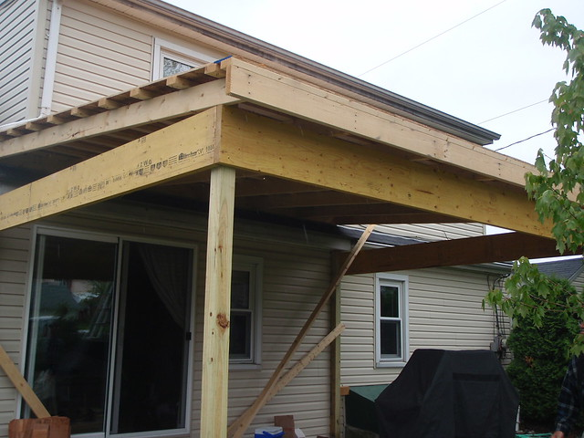 Back Porch Roof Construction Flickr Photo Sharing