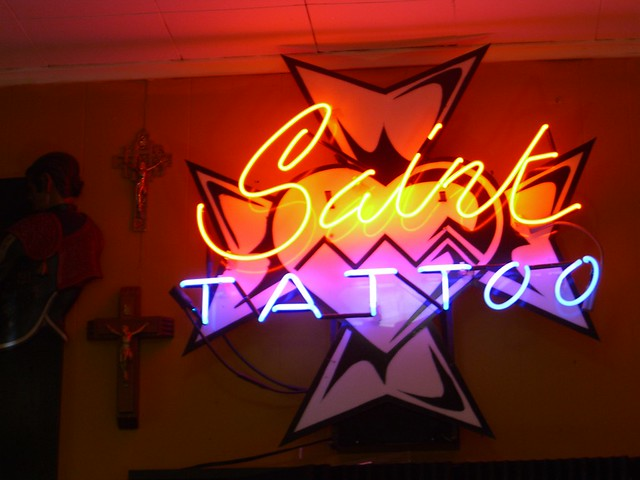 Saint tattoo in knoxville flickr photo sharing for Saint tattoo knoxville