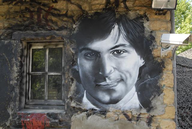 Steve Jobs painted portrait _DDC7924