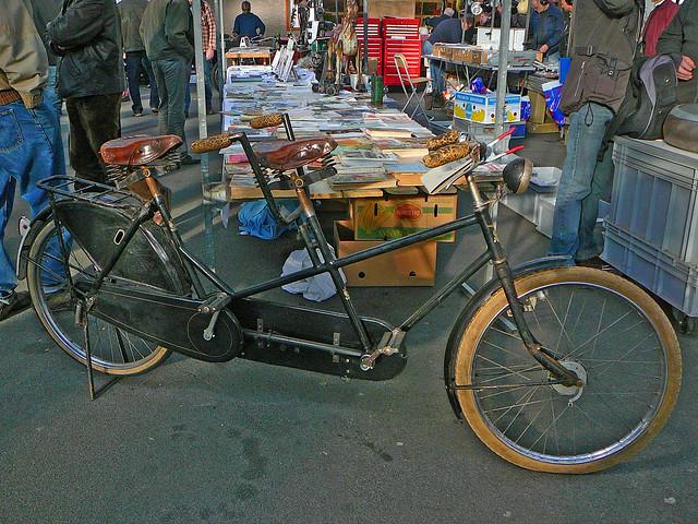 Klassieke tandem (classic tandem bicycle, tandem ancien), Utrecht, Veemarkthallen