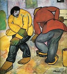 Malevich, Kazimir (1878-1935) - 1911-12 Floor Polishers (Stedeljik Museum, Amsterdam)
