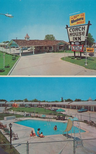 vintage inn postcard motel slide missouri springfield bestwestern aaa coachhouse poolview dualview entranceview