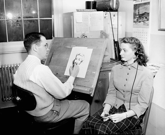 KEN STALY PAINTING A GIRL