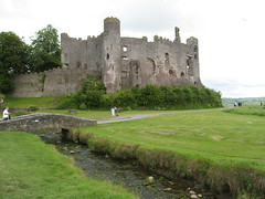 castle, building, historic site, ruins, ditch, fortification, waterway, moat,