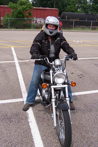 Jayne in the Motorcycle Safety Foundation course
