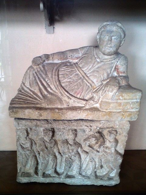 Etruscan sarcophagus, Museo Etrusco, Volterra