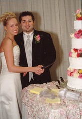 Will & Brittny getting ready to cut the cake